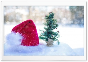 Santa Claus Hat HD Wide Wallpaper for Widescreen