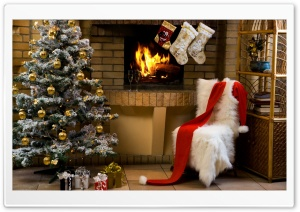 Santa Claus House HD Wide Wallpaper for Widescreen