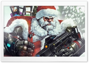 Santa Claus Illustration HD Wide Wallpaper for Widescreen