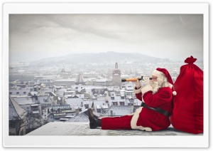 Santa Claus Is Coming HD Wide Wallpaper for Widescreen