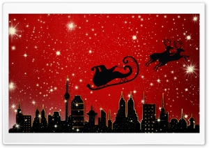 Santa Claus is Coming to City HD Wide Wallpaper for Widescreen