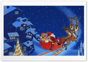 Santa Claus Is Coming To Town HD Wide Wallpaper for 4K UHD Widescreen desktop & smartphone