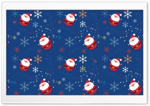 Santa Claus Pattern HD Wide Wallpaper for Widescreen