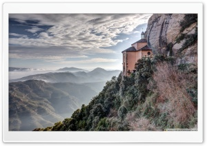Santa Cova de Montserrat Catalonia Ultra HD Wallpaper for 4K UHD Widescreen desktop, tablet & smartphone