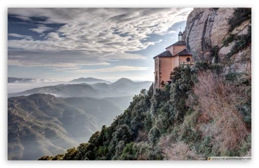 Download Santa Cova de Montserrat Catalonia HD Wallpaper