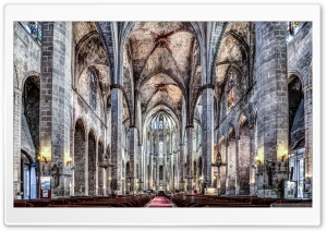 Santa Maria del Mar Barcelona, Catalonia HD Wide Wallpaper for Widescreen