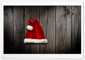 Santas Hat HD Wide Wallpaper for 4K UHD Widescreen desktop & smartphone