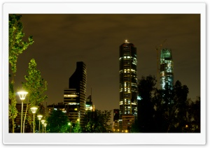 Santiago De Noche HD Wide Wallpaper for Widescreen