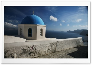 Santorini Church HD Wide Wallpaper for Widescreen