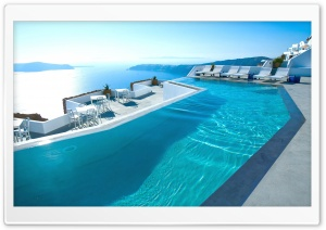 Santorini Hotel HD Wide Wallpaper for Widescreen