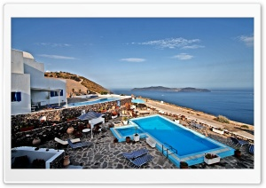 Santorini View HD Wide Wallpaper for Widescreen