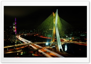 Sao Paulo Bridge HD Wide Wallpaper for 4K UHD Widescreen desktop & smartphone