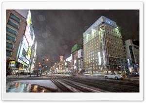Sapporo City, Hokkaido, Japan HD Wide Wallpaper for Widescreen