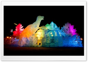 Sapporo Ice Festival HD Wide Wallpaper for Widescreen