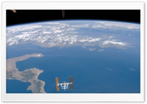 Satellite Above The Earth HD Wide Wallpaper for Widescreen