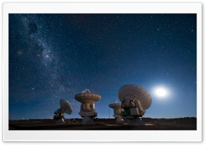 Satellite Array HD Wide Wallpaper for Widescreen