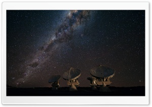 Satellite Array Night HD Wide Wallpaper for Widescreen