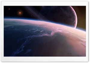 Satellite Between Planets HD Wide Wallpaper for Widescreen