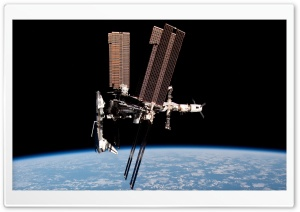 Satellite Orbiting Earth HD Wide Wallpaper for Widescreen