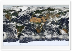 Satellite World Map HD Wide Wallpaper for Widescreen