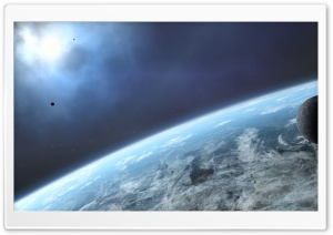 Satellites In Orbit HD Wide Wallpaper for Widescreen
