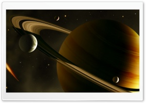 Saturn HD Wide Wallpaper for 4K UHD Widescreen desktop & smartphone