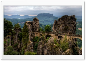 Saxon Switzerland National Park HD Wide Wallpaper for 4K UHD Widescreen desktop & smartphone