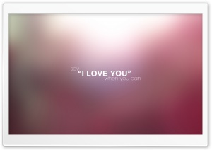 Say I LOVE YOU When You Can HD Wide Wallpaper for Widescreen