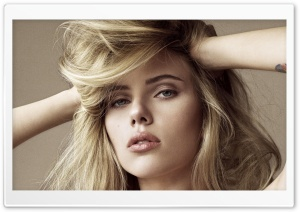 Scarlett Johansson Blonde Hair HD Wide Wallpaper for Widescreen