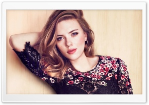 Scarlett Johansson Spring HD Wide Wallpaper for Widescreen