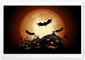 Scary Halloween Pumpkins Ultra HD Wallpaper for 4K UHD Widescreen desktop, tablet & smartphone