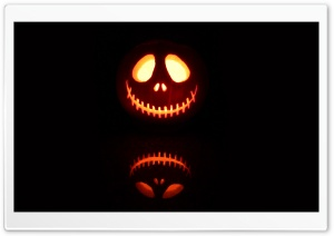 Scary Jack O Lantern HD Wide Wallpaper for 4K UHD Widescreen desktop & smartphone