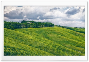 Scenic Panoramic View, Hilly Landscape HD Wide Wallpaper for Widescreen