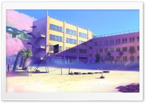 Schoolyard Manga HD Wide Wallpaper for Widescreen
