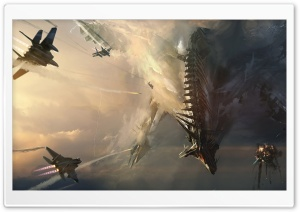 Sci-Fi Dragon HD Wide Wallpaper for Widescreen