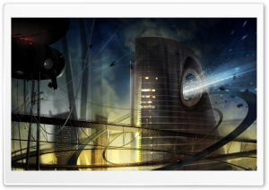 Science Fiction City HD Wide Wallpaper for Widescreen