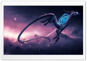Science Fiction Dragon HD Wide Wallpaper for Widescreen