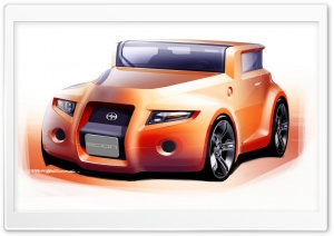 Scion Hako Concept Sketch HD Wide Wallpaper for Widescreen