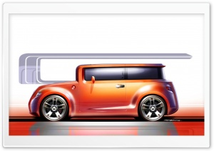 Scion Hako Concept Sketch2 HD Wide Wallpaper for Widescreen