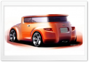 Scion Hako Concept Sketch 1 HD Wide Wallpaper for Widescreen