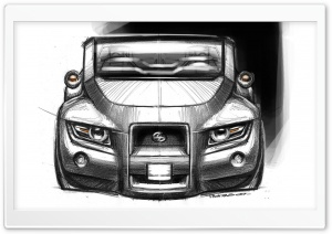 Scion Hako Concept Sketch 3 HD Wide Wallpaper for Widescreen