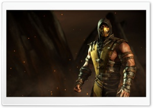 Scorpion, Mortal Kombat X HD Wide Wallpaper for Widescreen