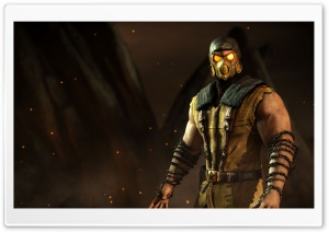 Scorpion, Mortal Kombat X game HD Wide Wallpaper for 4K UHD Widescreen desktop & smartphone