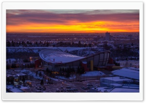 Scotiabank Saddledome, Calgary, Alberta, Canada HD Wide Wallpaper for Widescreen
