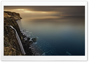 Scotland Coast Waterfall HD Wide Wallpaper for Widescreen