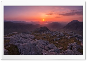 Scotland Highland Sunset HD Wide Wallpaper for Widescreen