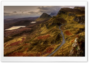 Scotland Road Landscape HD Wide Wallpaper for Widescreen