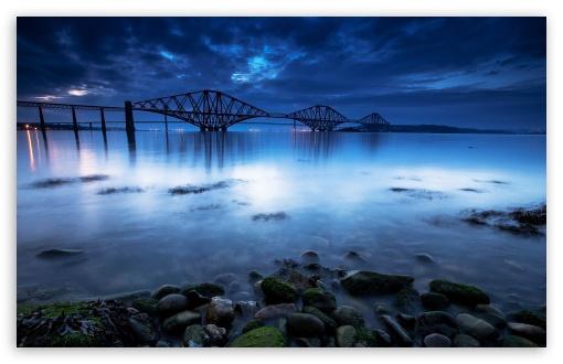 Download Scotland The Forth Bridge Landscape HD Wallpaper