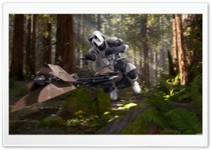Scout Trooper Speederbike Endor HD Wide Wallpaper for Widescreen