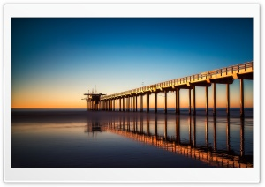 Scripps Pier HD Wide Wallpaper for 4K UHD Widescreen desktop & smartphone